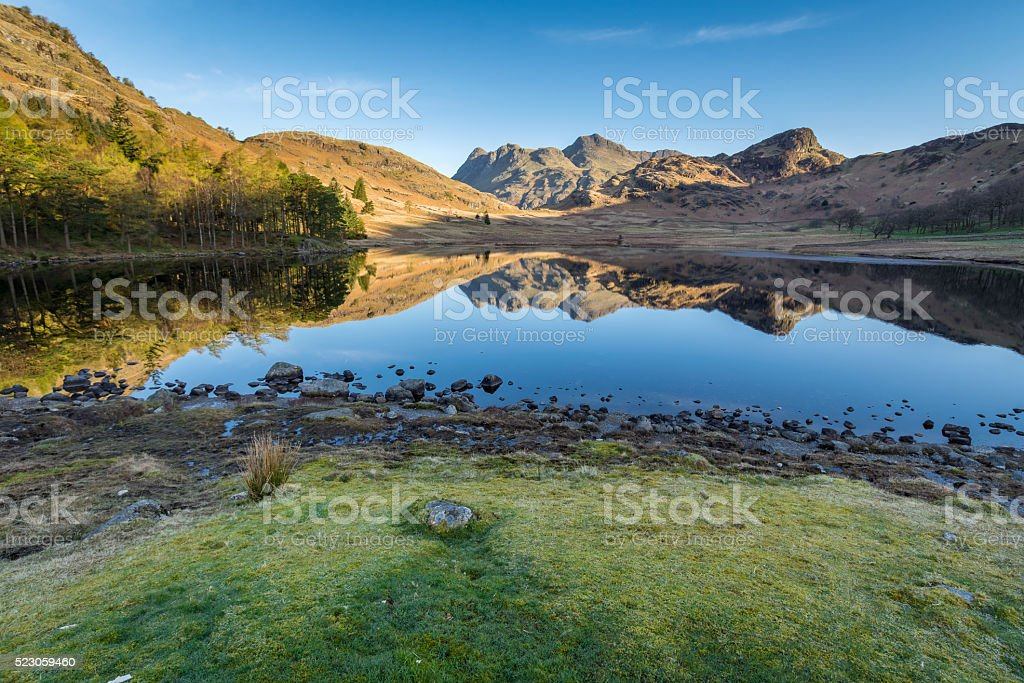Blea Tarn In The English Lake District. stock photo