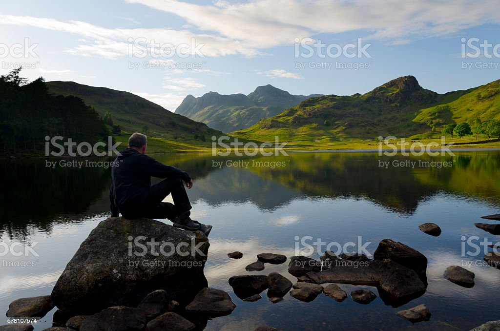 Blea Tarn,Cumbria. stock photo