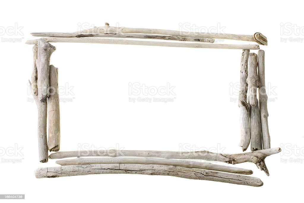bleached stick frame stock photo