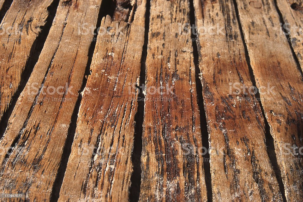 Bleached Wooden Planks royalty-free stock photo