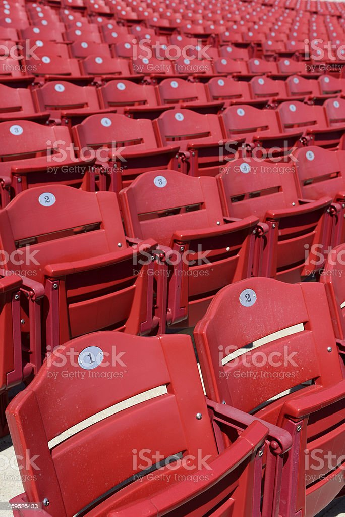 Bleachers at big sport stadium stock photo