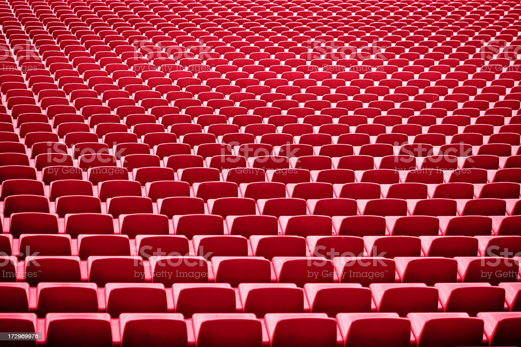 Bleachers on big sport stadium royalty-free stock photo