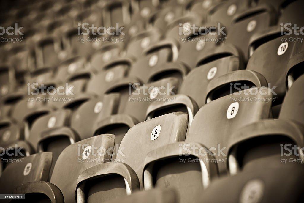 Bleachers on sport stadium royalty-free stock photo