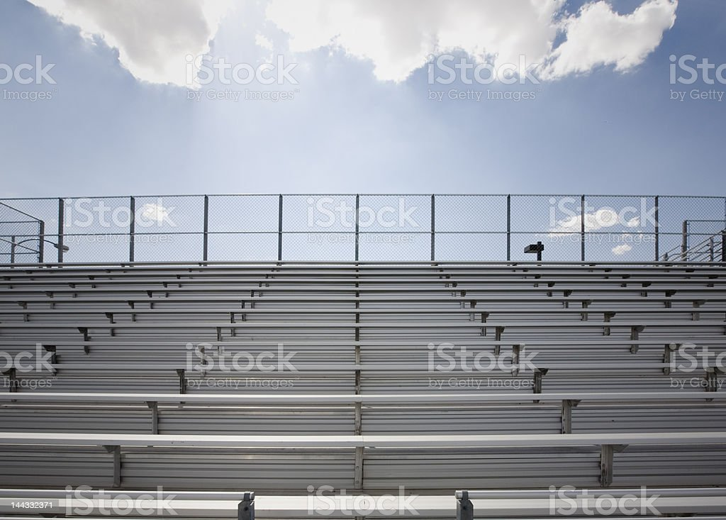 bleachers stock photo