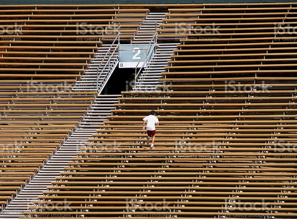 Bleachers Running Workout royalty-free stock photo