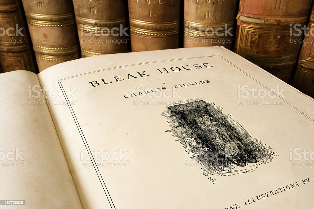 Bleak House - Charles Dickens stock photo
