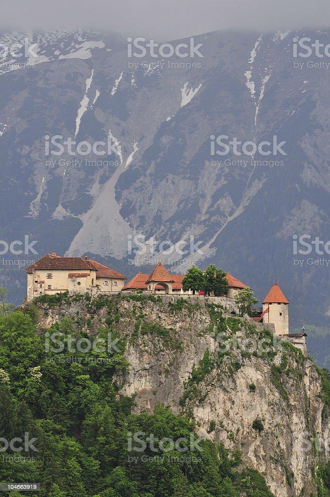 Bled - Castle stock photo