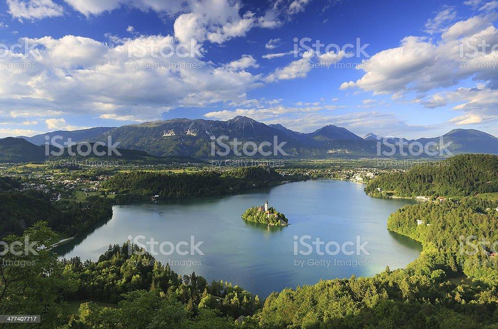 Bled Lake in Slovenia stock photo