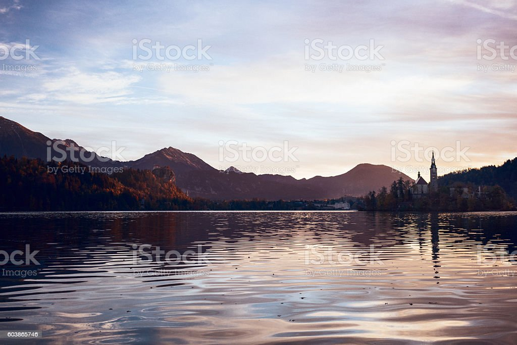 Bled Lake stock photo