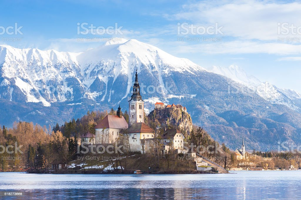 Bled lake, Slovenia, Europe. stock photo
