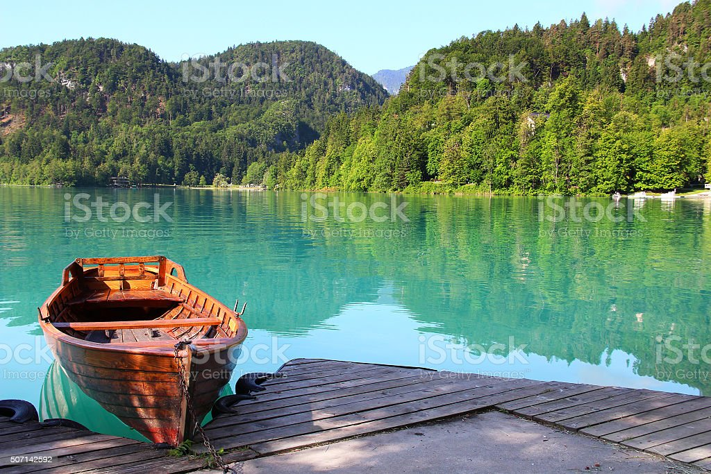 Bled lake, Slovenia stock photo