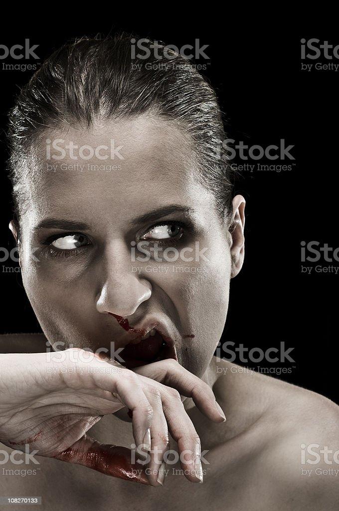 bleeding nose stock photo