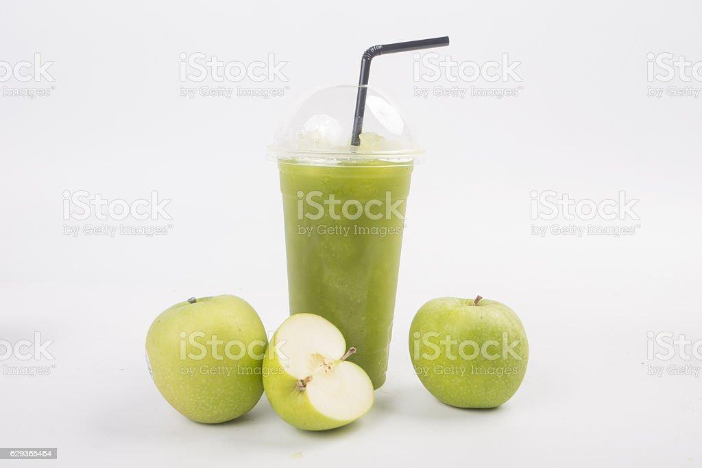 blended apple juice stock photo