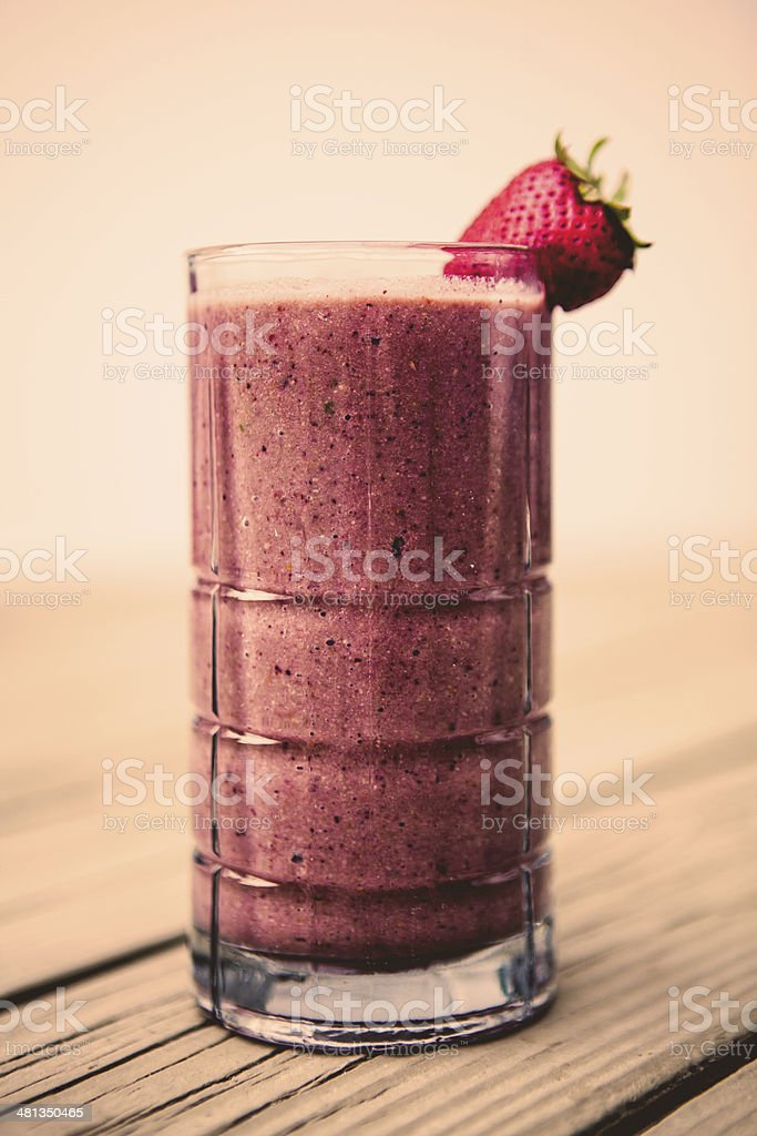 Blended fruit smoothie stock photo