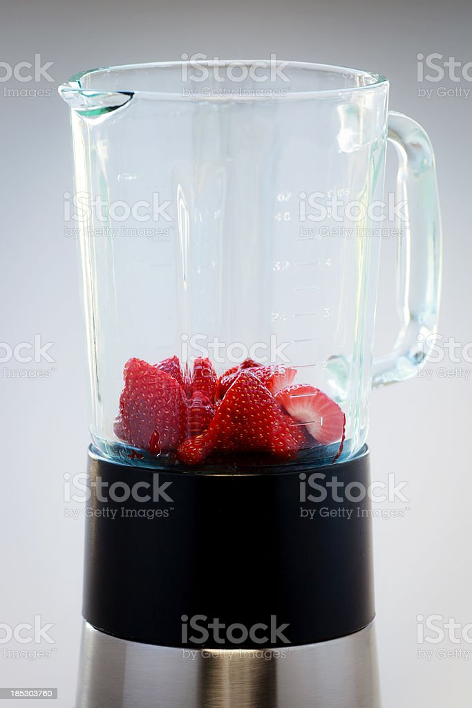 Blender with Strawberries royalty-free stock photo