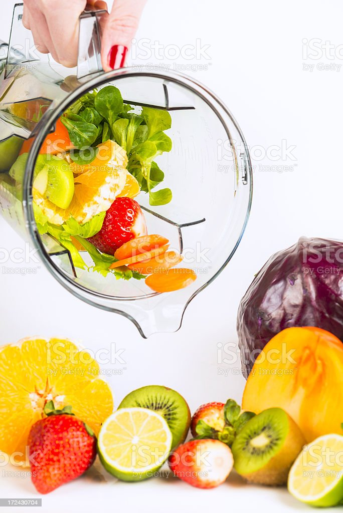 blending fruits and vegetables royalty-free stock photo