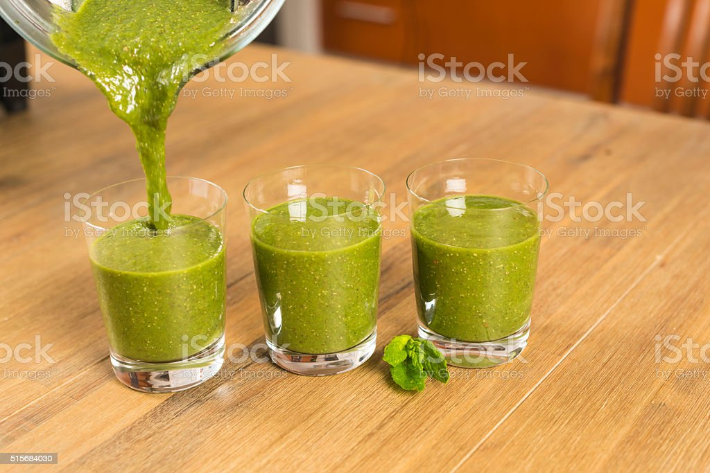 blending smoothie stock photo