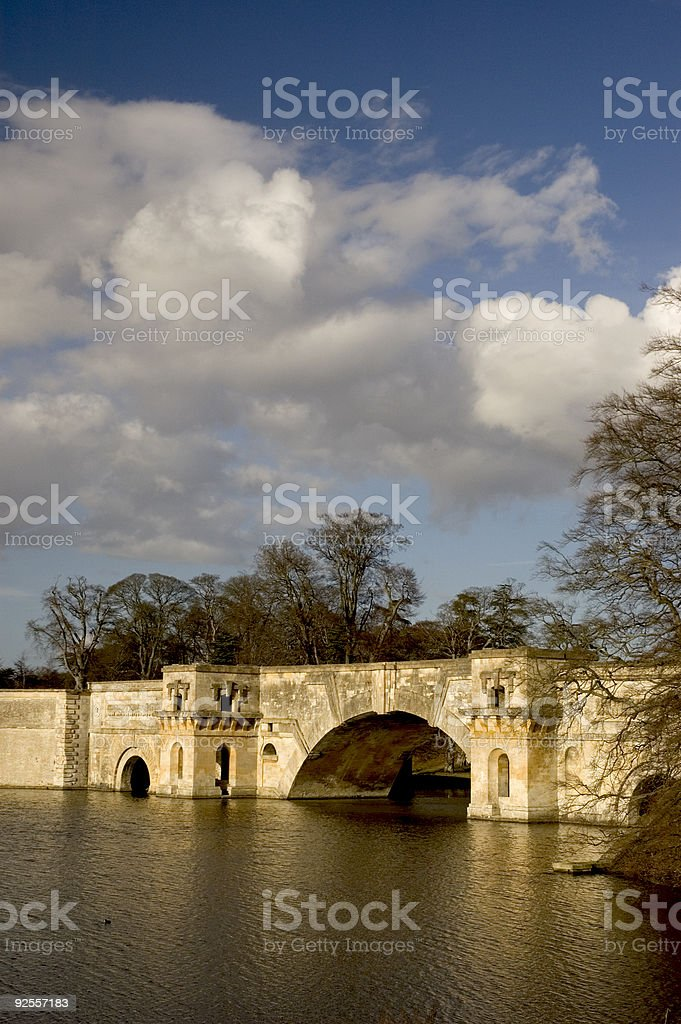 Blenheim Bridge stock photo