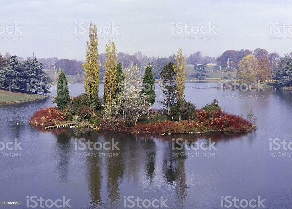 Blenheim Palace Grounds in Oxfordshire. England royalty-free stock photo