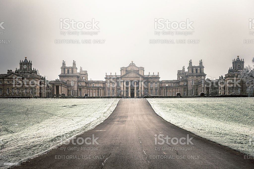 Blenheim Palace in Winter, Woodstock, UK stock photo