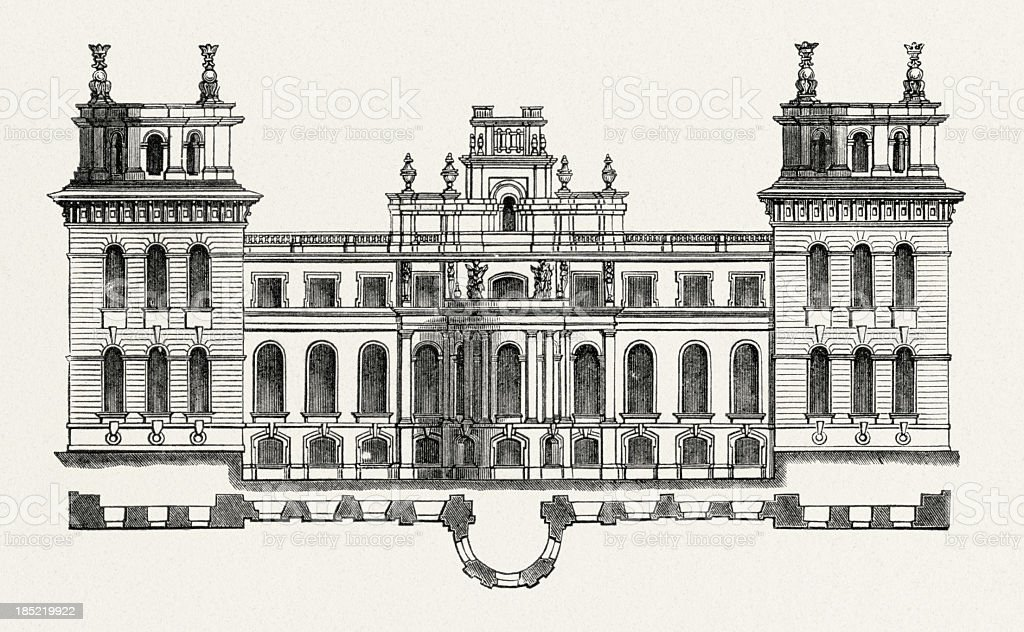 Blenheim Palace, Oxfordshire, England -Front stock photo