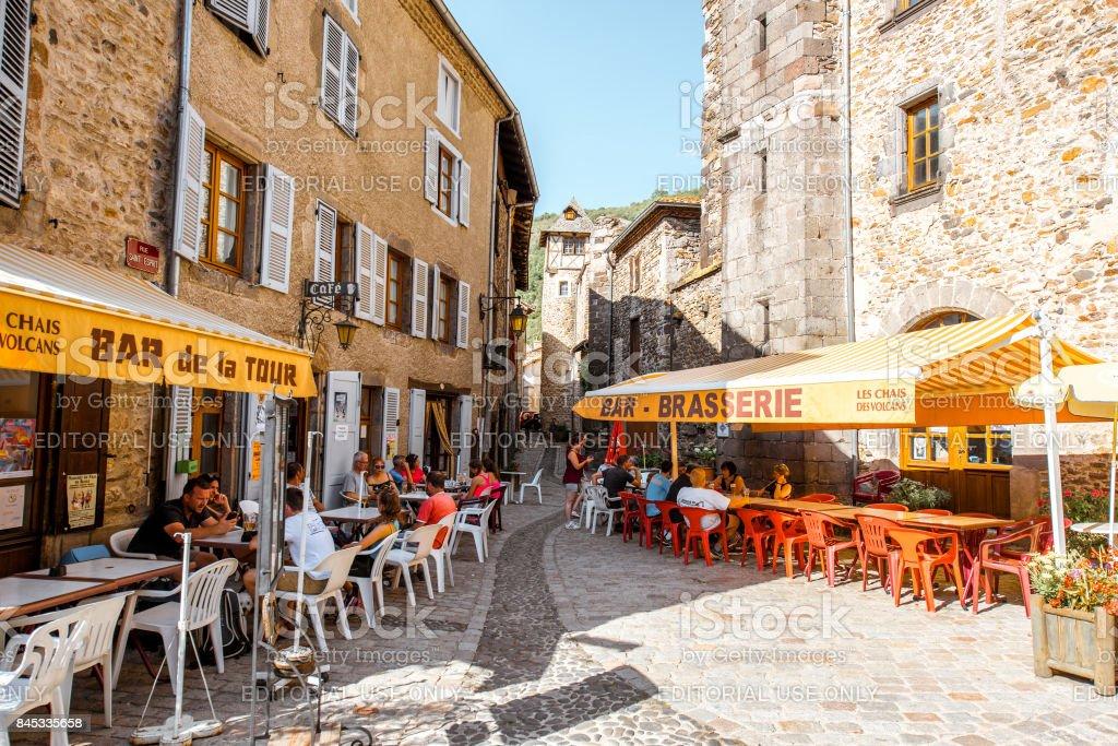 Blesle village in Auvergne region, France stock photo