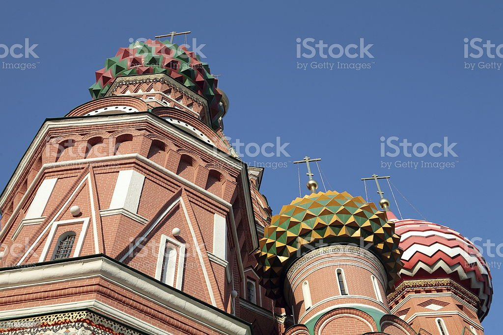 blessed  Basil cathedral at day on sky royalty-free stock photo
