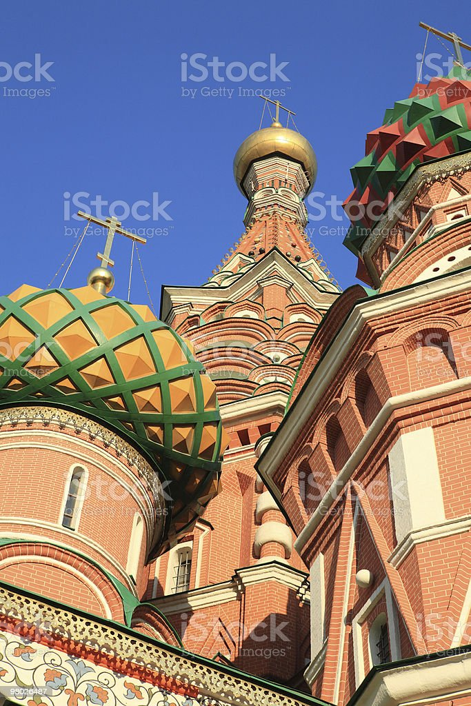 blessed  Basil cathedral at day royalty-free stock photo