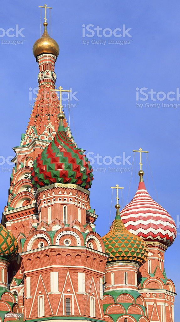 blessed Basil cathedral in moscow close up royalty-free stock photo