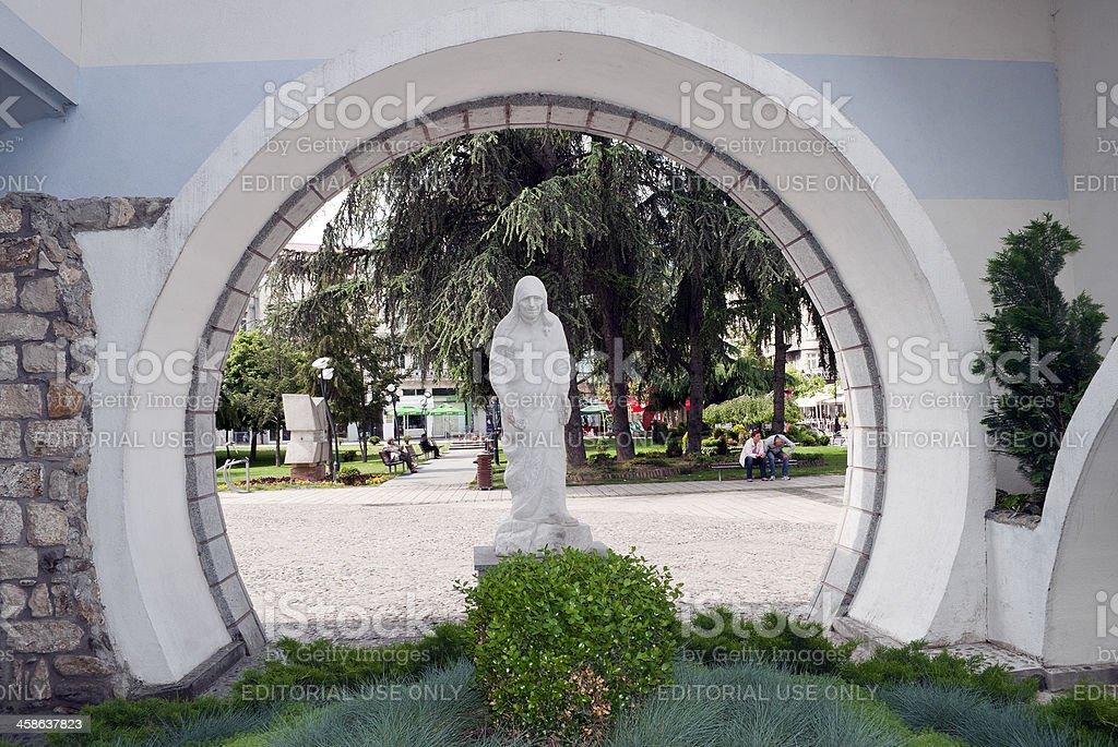Blessed Mother Teresa Statue in Skopje Macedonia royalty-free stock photo
