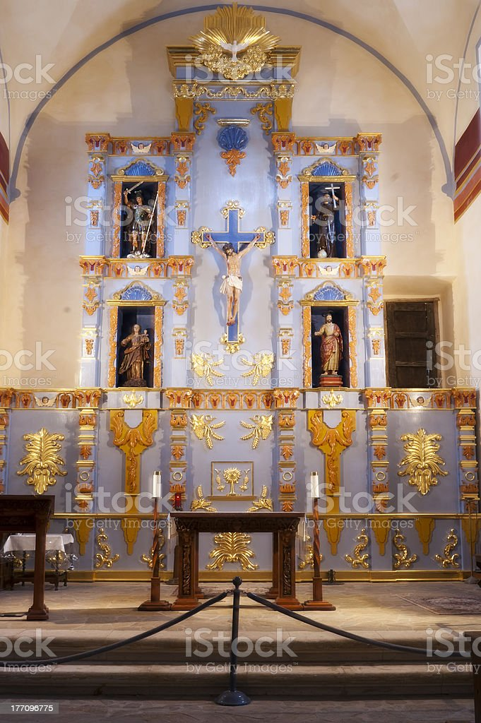 Blessed Sacrament Chapel, Mission San Jose stock photo