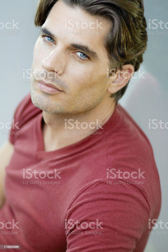 Blessed with a strong sense of self stock photo
