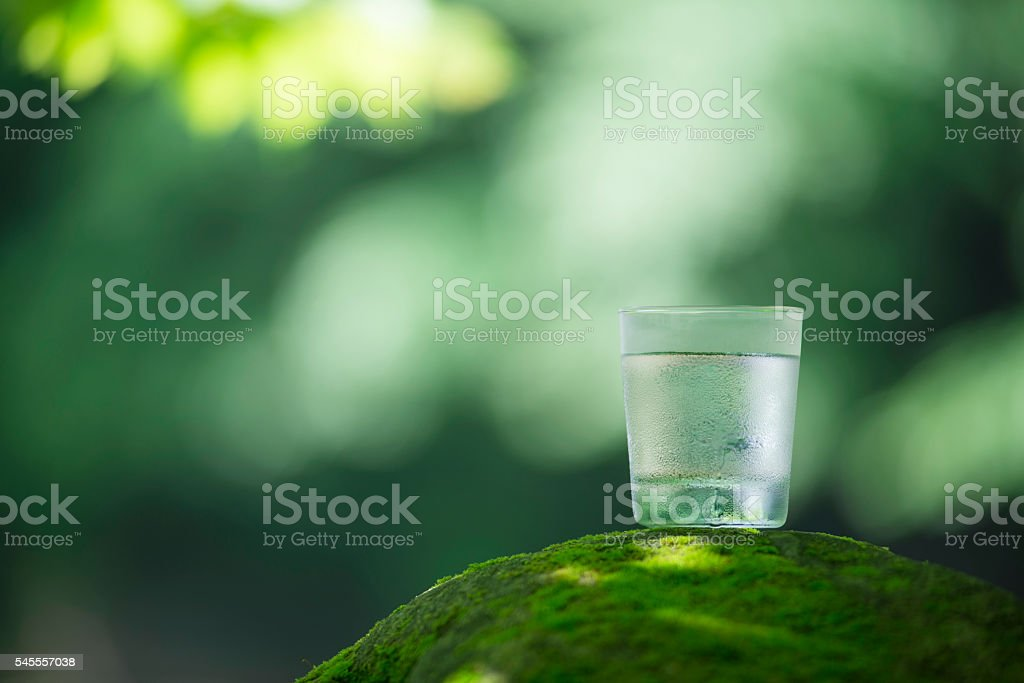 Blessing of nature and safe water. stock photo