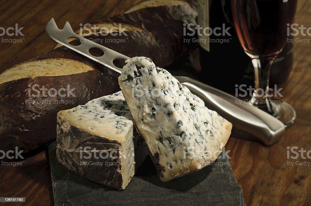 Bleu Cheese and Port Wine stock photo