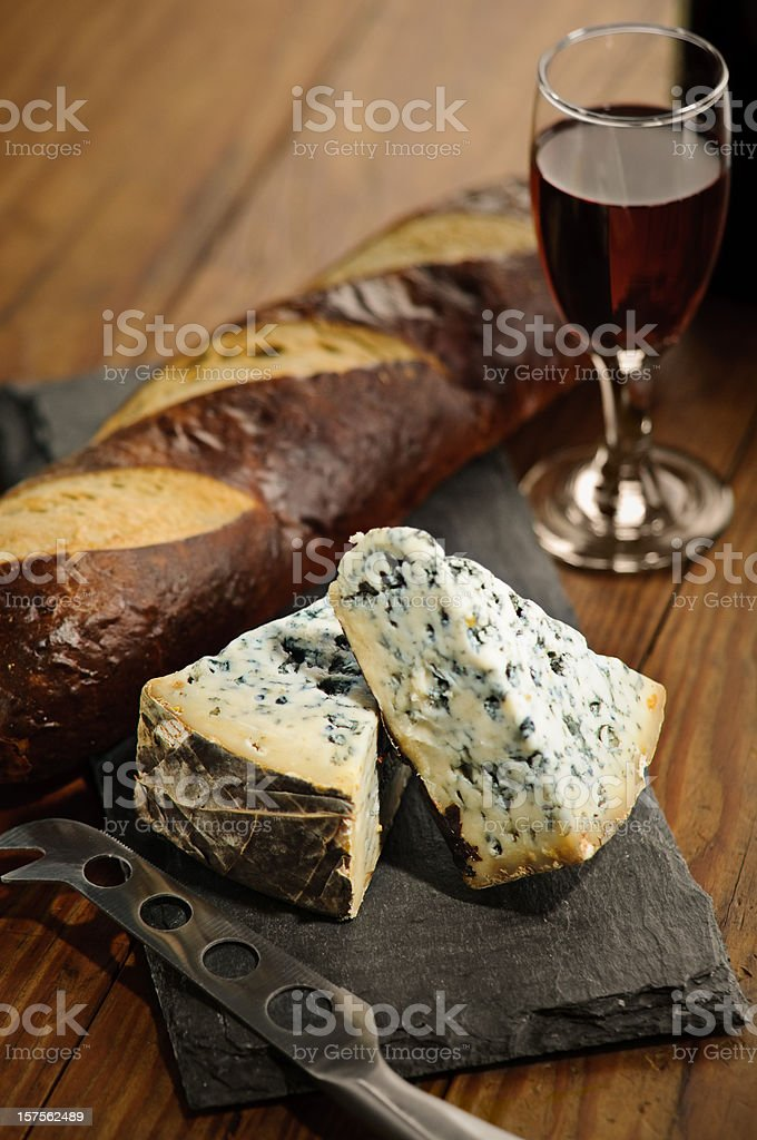 Bleu Cheese and Port Wine royalty-free stock photo