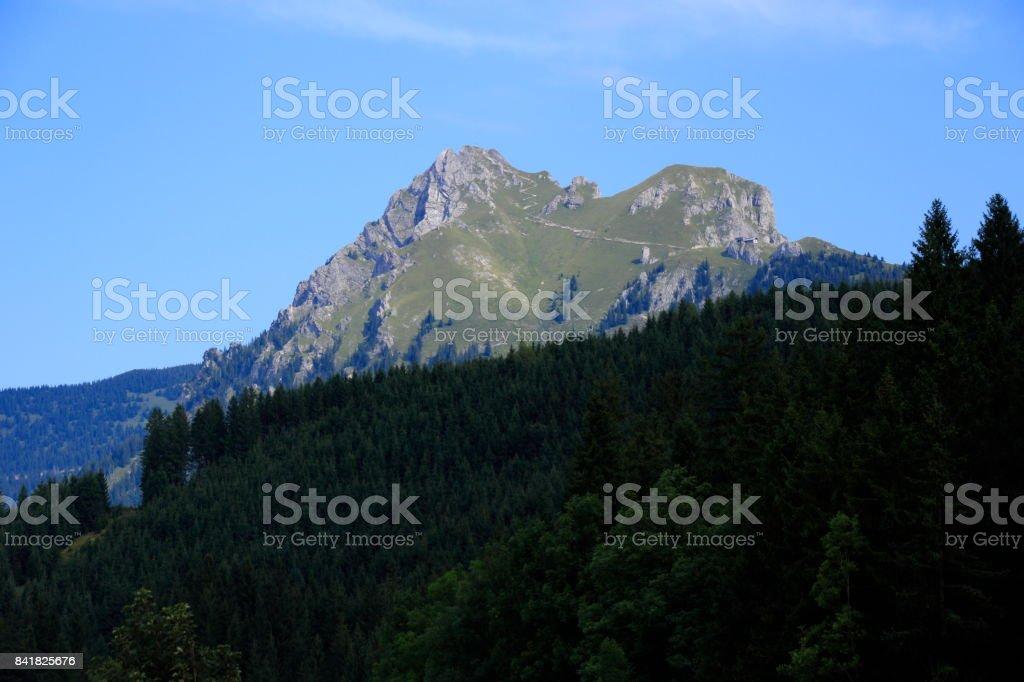 Blick auf den Aggenstein stock photo