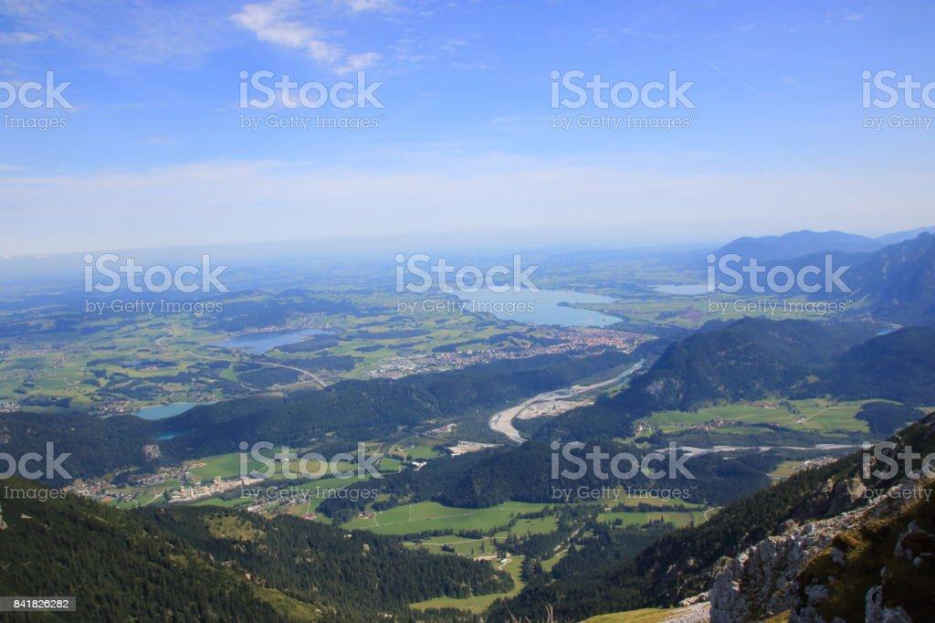 Blick auf den Forggensee stock photo
