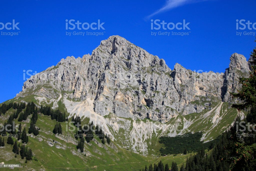 Blick auf die Tannheimer Alpen stock photo