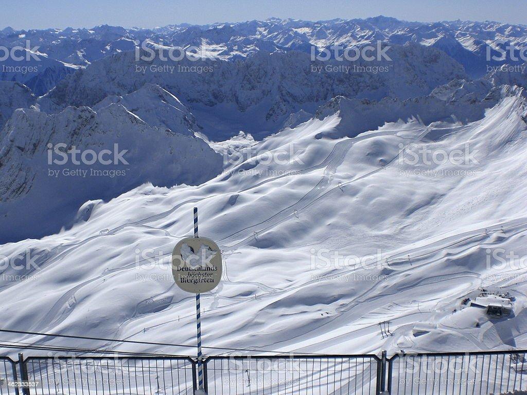 Blick ?ber die Alpen stock photo