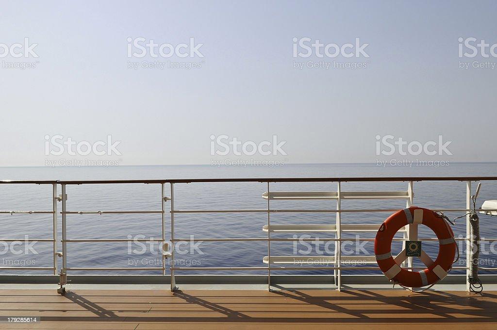 Blick ?ber die Reling royalty-free stock photo