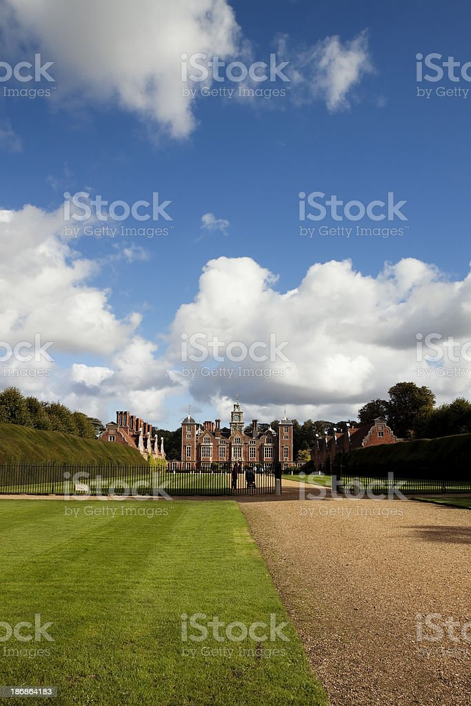 Blicking Hall from the Aylsham road royalty-free stock photo