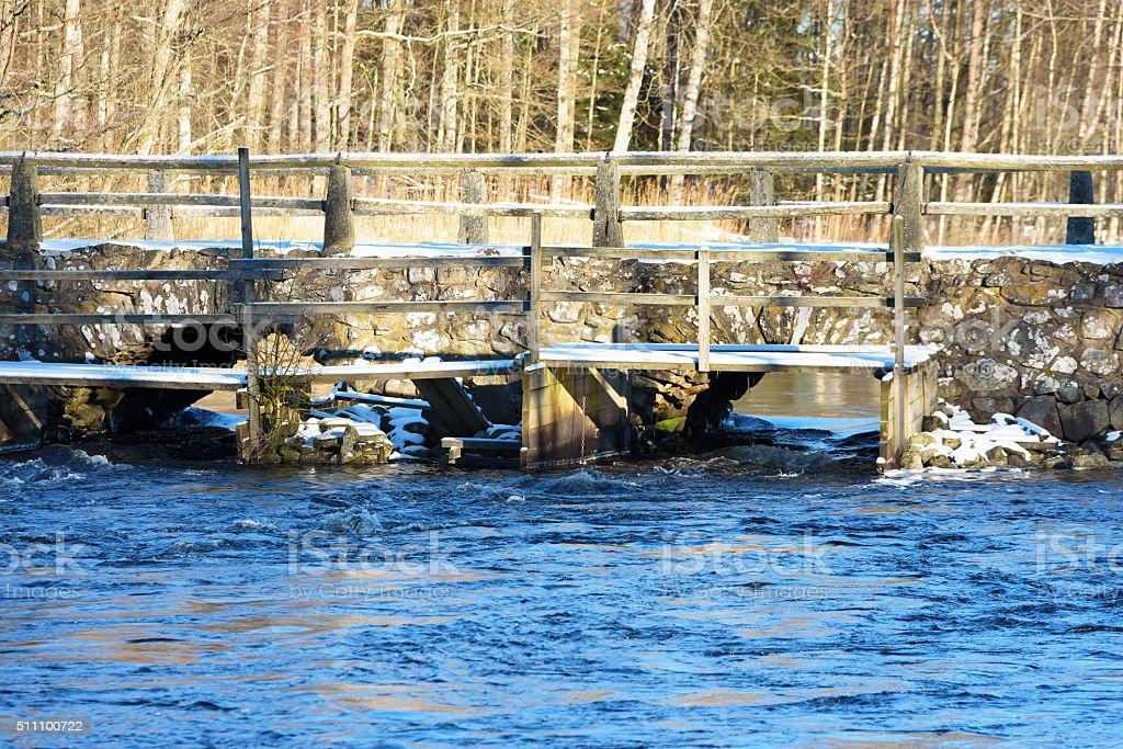 Blidingsholm bridge stock photo