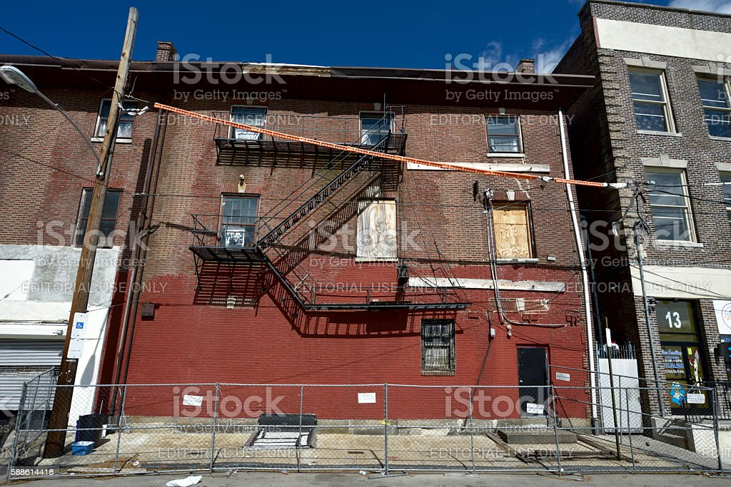 Blight in Philadelphia, PA stock photo