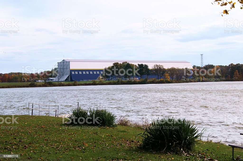 Blimp hangar stock photo