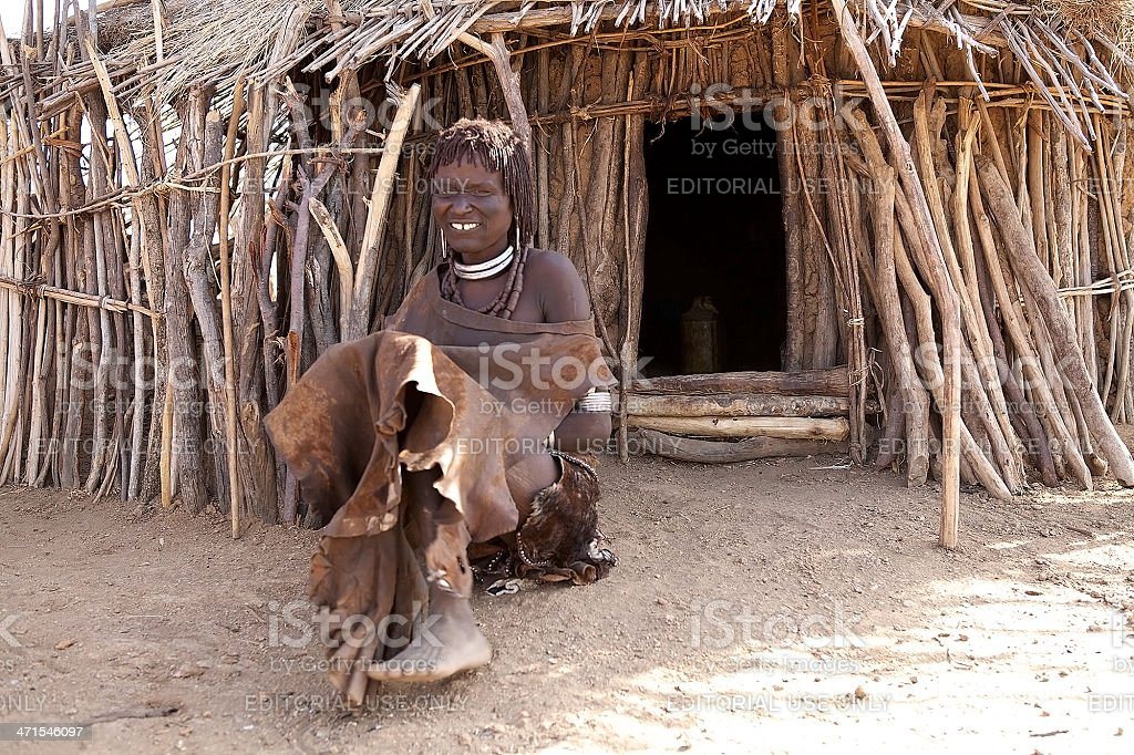 Blind african woman royalty-free stock photo