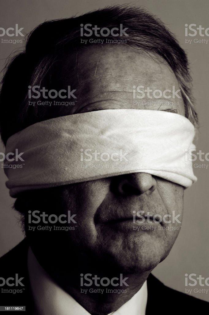 Blind Businessman royalty-free stock photo