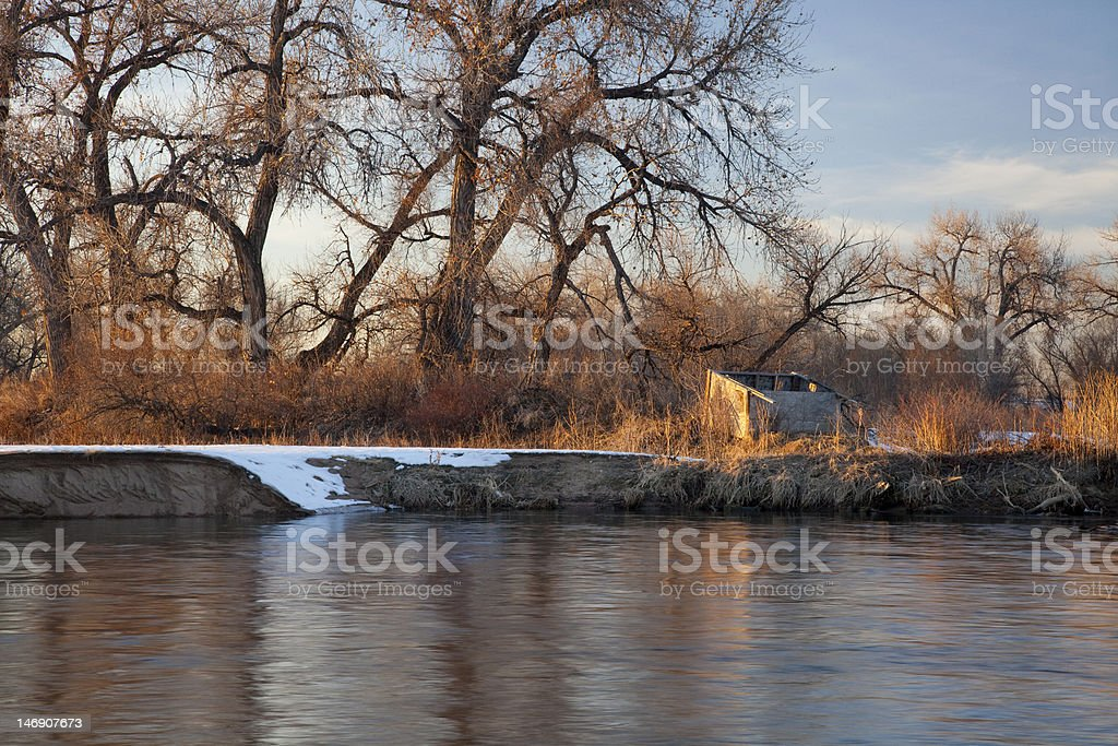 blind for waterfowl hunting royalty-free stock photo