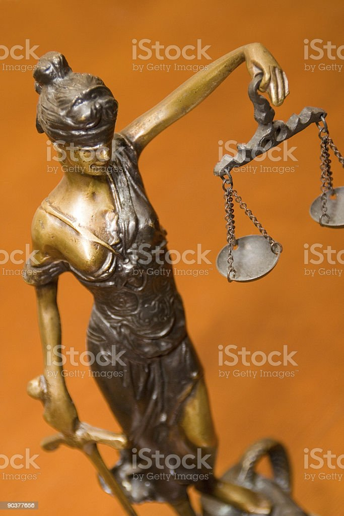 Blind Justice royalty-free stock photo