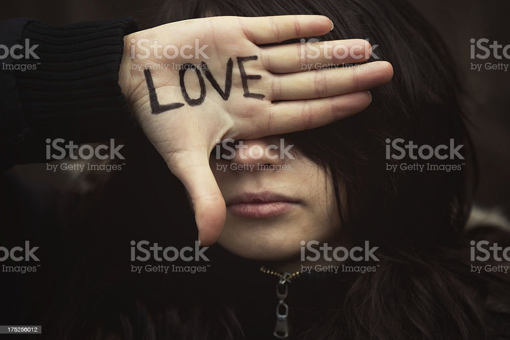 Blind Love royalty-free stock photo