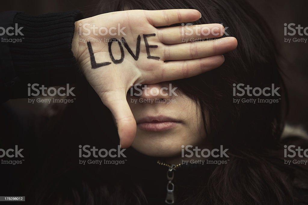 Blind Love stock photo